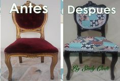 Silla Vintage Dining Chairs, Graphics, Furniture, Design, Home Decor, Refurbished Chairs, House Decorations, Old Chairs, Recycled House