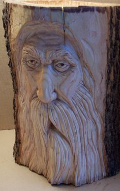 Woodspirit Carving by Greg Hand. Holzschnitzen , Woodspirit Carving by Greg Hand. Woodspirit Carving by Greg Hand. Wood Carving Faces, Dremel Wood Carving, Wood Carving Designs, Tree Carving, Wood Carving Patterns, Wood Carving Art, Wood Carvings, Wood Sculpture, Sculptures