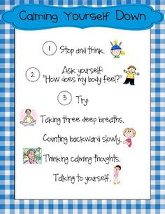 Calming Yourself Down - Great for students and staff