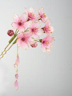 ◆桜◆かんざし◆簪◆髪飾り◆ディップアート◆蒼翠_画像3