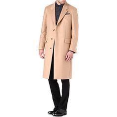 ALEXANDER MCQUEEN Three-button cashmere coat (Camel