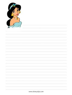 stationaryjas.gif (616×815) Disney Writing, Printable Lined Paper, Memo Notepad, Disney Princess Jasmine, Printable Recipe Cards, Famous Cartoons, Flower Embroidery Designs, Disney Scrapbook, Stationery Paper