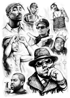 Super Ideas Tattoo Music Hip Hop Rap popular music is an element Hip Hop Tattoo, Big Tattoo, Biggie Smalls, Tattoo Musik, Mode Cyberpunk, Arte Do Hip Hop, Tupac And Biggie, Tupac Art, Rapper Art