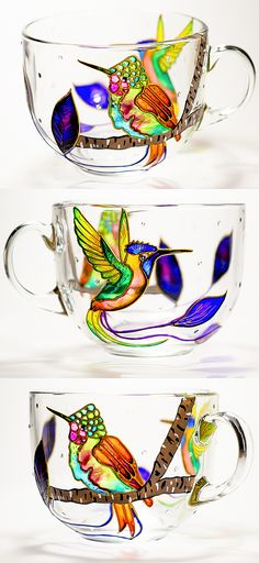 Coffee Mug Hummingbird Mothers Day Gifts, Large Coffee Mug, Bird Cup for Mom Gift for her 17 oz mug