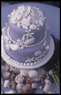 blue sealife cake