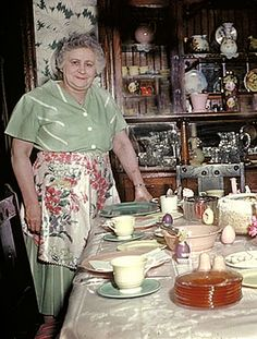 +~ Vintage Color Photograph ~+  Easter Dinner at Grandma's House.  ca. 1952