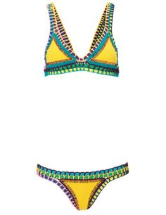 Love. This. Kiini Yellow crochet kini #fabFL