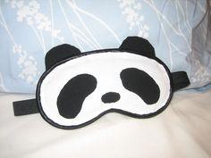 panda sleep mask [Craftster: pandaz] - tutorial on page 3!