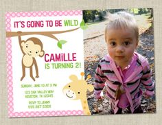 Jungle birthday party invitation  safari party by miragreetings, $16.00 - already has the right name and age!