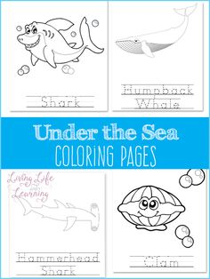 Under the sea coloring pages - a coloring activity that your ocean lover will enjoy Ocean Activities, Color Activities, Fun Activities For Kids, Worksheets For Kids, Activity Ideas, Educational Activities, Preschool Learning, Kindergarten Activities, Writing Activities