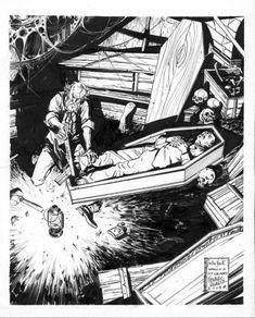 Lovecraft  in the Vault  Comic Art