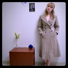 Vintage 1950s tweed coat Vintage coat from the 50s. Best fits a small or slightly smaller medium. Vintage Jackets & Coats