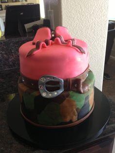 Fondant girly camo cake made for 16th Birthday!