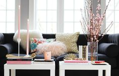 Three Pink Dots - coffee table styling