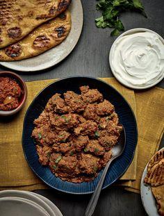 Lamb Bhuna with Garlic Naan - The Happy Foodie