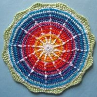 Crochet Mandala Wheel made by Luciana, Italy for yarndale.co.uk