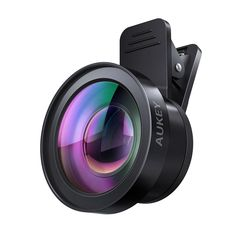 AUKEY Ora iPhone Camera Lens, 0.55x 120° Wide Angle + 15x Macro Clip-on Cell Phone Camera Lenses Kit for Samsung, Android Smartphones, iPhone. Ora 2-in-1 Lens Set includes a 120° Wide Angle Lens + a 15x Macro Lens - Ideal for a variety of photography scenarios. Macro Lens gets you 15x closer to your subject for extremely detailed close-ups of textures and objects. Wide Angle Lens opens up your field of view for breathtaking landscape photos or wide format selfies. Each lens is crafted…
