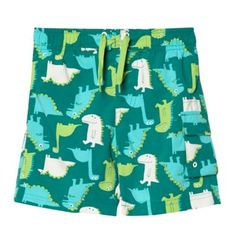 bluezoo Boy's green dinosaur swim shorts- at Debenhams.com