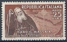 1952 REPUBBLICA ITALIANA CARDINALE MASSAIA