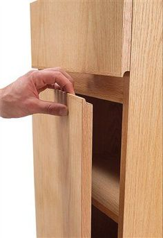 veneer panel router solid finger pull - Google Search
