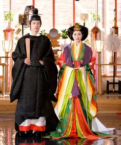Jûnihitoe and ikan-sokutai (full Japanese court dress of traditional fashion for men)