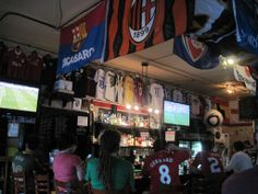 "4-4-2 Soccer Bar in Portland, OR -- Looking to enjoy the World Cup with real fanatics in a bar decked out in soccer swag? Head to the ""Original Portland Soccer Bar.""  Find more great places to watch the World Cup in the USA: http://pin.it/AeGWA1a"