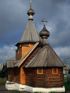 Reconstruction of a 10th Century Wooden Russian Orthodox Church, Vitebsk, Belarus Photographic Print