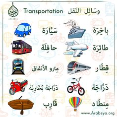 Transportation in Arabic Language وسائل النقل