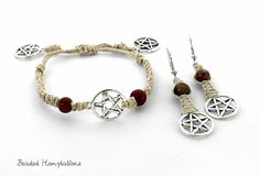 Pentacle Hemp Pagan Wiccan Wicca Jewelry by BeadedHemptations, $15.99