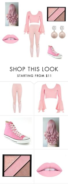 """""""Pink"""" by johnsfai on Polyvore featuring adidas, River Island, Converse, Elizabeth Arden and Jankuo"""
