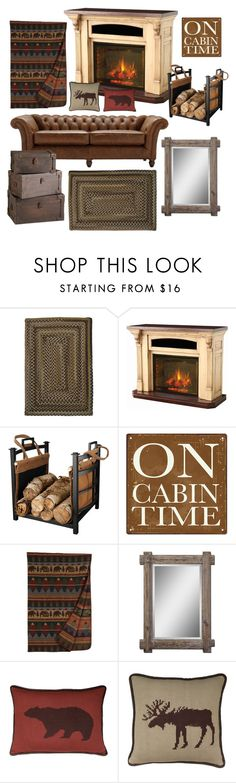 """""""Cabin Life❤️"""" by aelgreen-1 on Polyvore featuring interior, interiors, interior design, home, home decor, interior decorating, Home Decorators Collection, DutchCrafters and HiEnd Accents"""