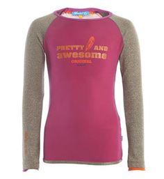 Ninni Vi t-shirt met glittermouwen - Dark pink - NummerZestien.eu