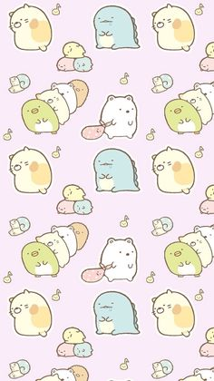 This is a good example of pattern because the image of the characters are repeating. The image is from a Japanese company Sanrio. Same people who created Hello Kitty. Kawaii Doodles, Kawaii Art, Kawaii Anime, Kawaii Wallpaper, Disney Wallpaper, Cute Backgrounds, Cute Wallpapers, Kawaii Drawings, Cute Drawings