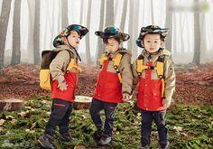 Con sinh ba của sao 'Truyền thuyết Jumong' làm mẫu