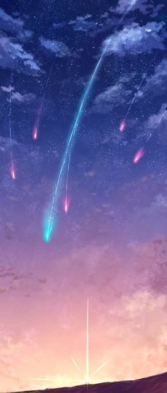 "Omg this looks like art for the movie ""Your Name"""