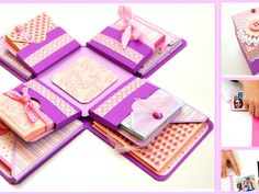 DIY Paper Crafts - Explosion Box Card Design - DIY Exploding box. Scrapbook Mini Album - Handmade Gift Ideas for her / him. Best Gift Ideas for Birthday , Anniversary