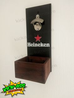 Destapador de bebidas, logo heineken  #kickassfurniture #kickassfurnitureguatemala #beerlover #bar #bardecor #bottleopener Sell On Etsy, Bottle Opener, Bar, Logo, Furniture, Heineken, Bottle Openers, Logos, Arredamento