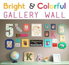 Whimsy gallery wall