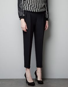 PLEATED TROUSERS - Trousers - Woman - ZARA United States