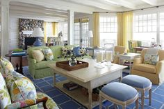 pastel interiors family room cottage 10 Colorful Ways to Use Pastels in your Modern Interiors