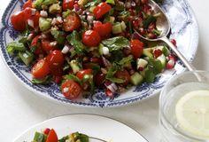 Tomato, Walnut, Mint and Pomegranate Salad
