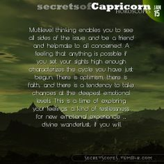 Capricorn Horoscope. Want horoscopes for all signs?  Visit iFate.com Astrology today!