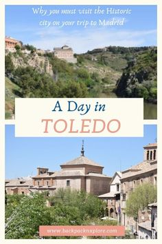 One Day Trip to Toledo Spain. Explore the historic city of three cultures. The natural beauty of Tajo river against the ancient architecture with Roman Moorish and Jewish influences. It's like stepping into the world of Game of Thrones. Europe Travel Guide, Spain Travel, Travel Usa, Travel Destinations, One Day Trip, Day Trips, Toledo Cathedral, Madrid, Ancient Architecture