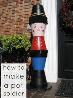 DIY Clay Pot Soldier