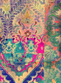 textiles, I think by Tracy Porter Pretty Patterns, Color Patterns, Pattern Art, Pattern Design, Claude Monet, Textile Patterns, Henna Patterns, Fabric Design, Illustration
