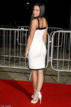 Well-heeled: The former Coronation Street actress topped off the look with a pair of white. Curvy Women Outfits, Clothes For Women, Georgia May Foote Instagram, Fiona Wade, Georgia Mae, Cute Couples Kissing, Coronation Street, Sexy Women, White Dress