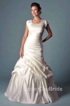 Modest Wedding Dress, Gianina   LatterDayBride & Prom. Modest Mormon LDS Temple Dress