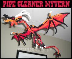 Pipecleaner Wyvern by teblad on deviantART Art Lessons For Kids, Art For Kids, Kid Art, Pipe Cleaner Crafts, Pipe Cleaners, Market Day Ideas, Pipe Cleaner Animals, Logo Dragon, Puppet Crafts