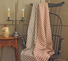 ~ Prim Decor, Linens And Lace, Vintage Textiles, Early American, Country Living, Decor Styles, Gingham, Colonial, Folk Art