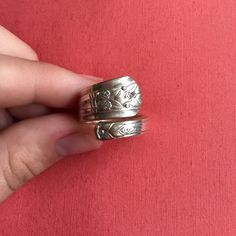 Sterling silver hand made spoon ring! Gently worn & hand made out of real silverware in Ohio! Size 6 Jewelry Rings